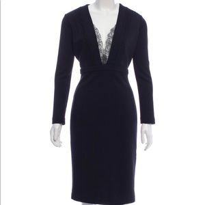 Black Roberto Cavalli wool knee-length dress